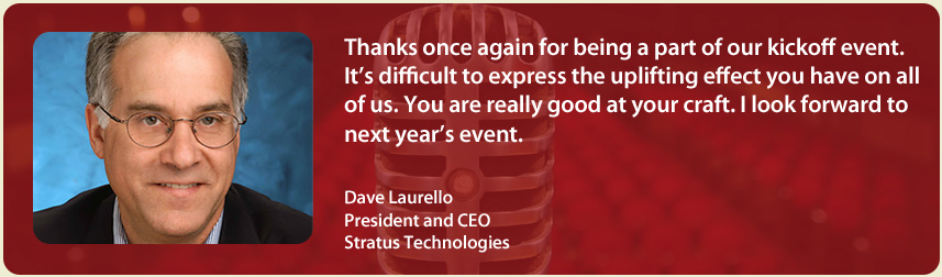 Dave Laurello, Stratus Technologies | Richard Laible Trade Show Presenter Corporate Emcee