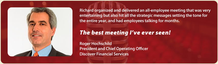 Richard Hoschschild, Discover Financial | Richard Laible Trade Show Presenter Corporate Emcee