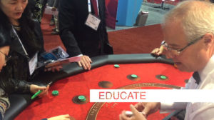 EDUCATE trade show crowds
