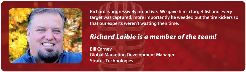 Bill Carney, Stratus Technologies | Richard Laible Trade Show Presenter Corporate Emcee