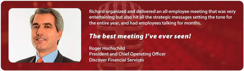 Richard Hoschschild, Discover Financial | Richard Laible Trade Show Presenter Corporate Emcee