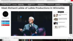 meeting emcee Richard Laible article